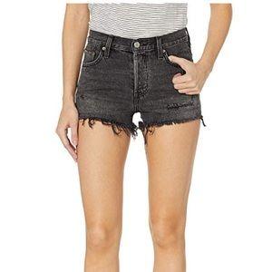 Levi's 501 Shorts Trashed Black Size 28